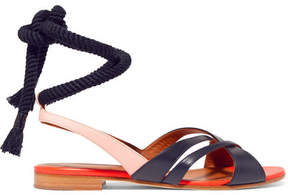 Malone Souliers Roksanda Marlene Color-block Leather Sandals - Navy