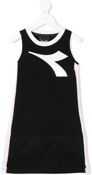 Diadora Junior sleeveless logo print dress