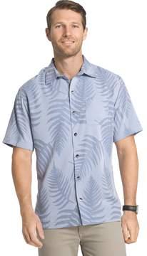 Van Heusen Big & Tall Classic-Fit Textured Leaf Jacquard Button-Down Shirt
