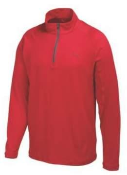 Puma Men's Solid 1/4 Zip Popover Tango Red S