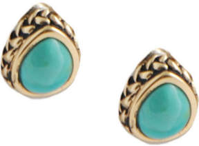 Barse Women's Bronze/Turquoise Earring BASIE35T01B