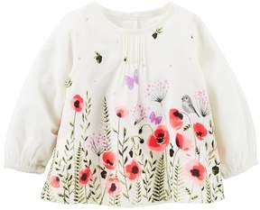 Osh Kosh Baby Girl Floral Pintuck Top