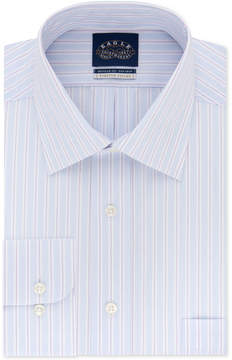 Eagle Men's Classic Fit Non-Iron Flex Collar Performance Stripe Dress Shirt
