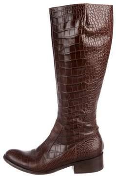 Max Mara Embossed Knee-High Boots