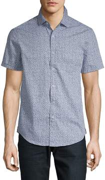 Report Collection Men's Printed Cotton Button-Down Shirt
