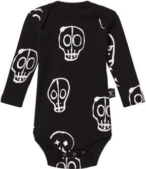 Nununu Black Skull Mask Long Sleeved Onesie