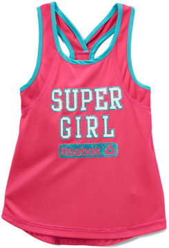 Reebok Pink Glo 'Super Girl' Racerback Tank - Toddler & Girls