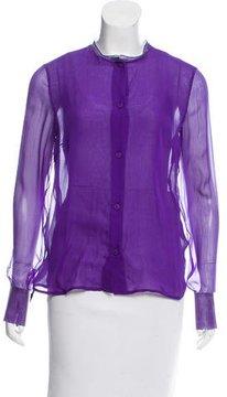 Bottega Veneta Silk Button-Up Top w/ Tags