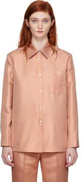 Mansur Gavriel Pink Silk Shirt