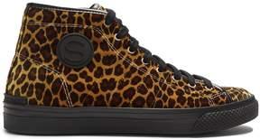 Stella McCartney Leopard-print high-top trainers