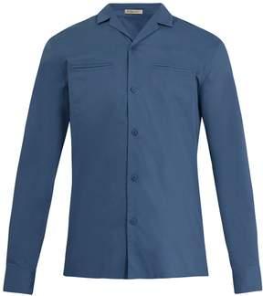 Bottega Veneta Cuban-collar cotton shirt