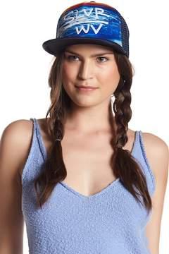 San Diego Hat Company Ocean Print Trucker Cap