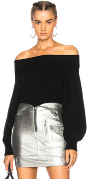 RtA Nino Off the Shoulder Top in Black.