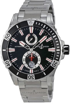 Ulysse Nardin Maxi Marine Diver Black Dial Stainless Steel Men's Watch