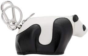 Loewe Black and White Panda Charm Keychain