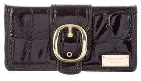 Michael Kors Patent Leather Wallet - BLACK - STYLE
