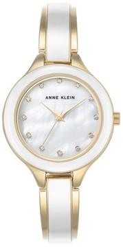 Anne Klein Women's Enamel Bangle Watch, 32Mm