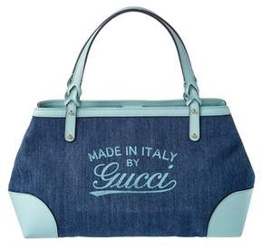 Gucci Blue Denim Hawaii Tote. - BLUE MULTI - STYLE