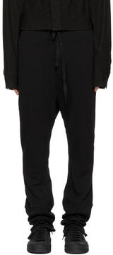 Ann Demeulemeester Black Dropped Lounge Pants