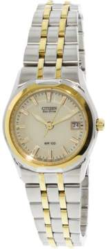 Citizen Women's Eco-Drive EW0944-51P Silver Stainless-Steel Japanese Quartz Fashion Watch