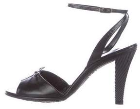 Marc Jacobs Leather Bow-Accented Sandals