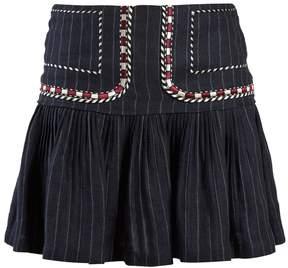 Etoile Isabel Marant Jessie pinstriped gathered linen skirt