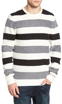 1901 Men's Stripe Waffle Knit Sweater