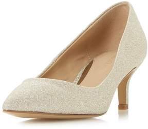 Head Over Heels *Head Over Heels by Dune Gold 'Annabel' Mid Heel Shoes
