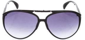 Jimmy Choo Aster Snakeskin Sunglasses