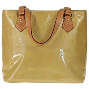 Louis Vuitton Houston patent leather handbag - YELLOW - STYLE