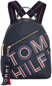 Tommy Hilfiger Adari Coated Twill Logo Backpack, Created for Macy's