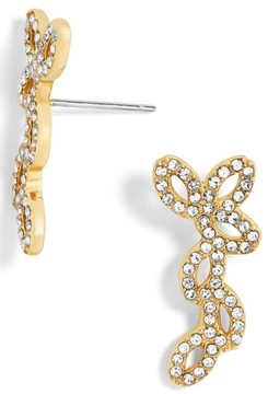 BaubleBar Women's Riva Pave Ear Crawlers