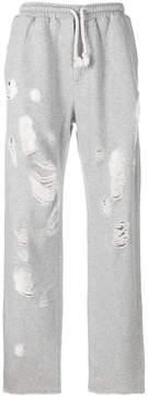 Paura distressed tracksuit bottoms