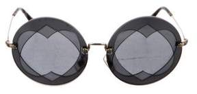 Miu Miu Tinted Circular Sunglasses