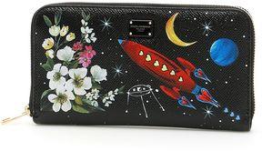 Dolce & Gabbana Zip Around Wallet - PIANETI/FIORI F.NERO|NERO - STYLE