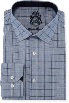 English Laundry Classic-Fit Plaid Dress Shirt, Blue
