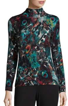 Context Abstract Patterned Turtleneck