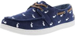 Toms Men's Culver Navy Whale Embroidery Ankle-High Canvas Athletic Boating Shoe - 12M