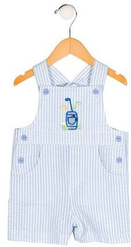 Florence Eiseman Boys' Embroidered Striped All-In-One