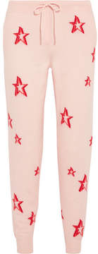 Chinti and Parker 3d Star Cashmere Track Pants - Pink