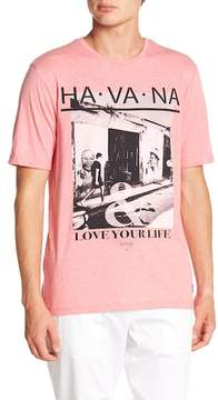 Report Collection Havana Print Crew Neck Tee