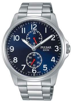 Pulsar Men's Silver Tone with Blue Dial - P3A001X