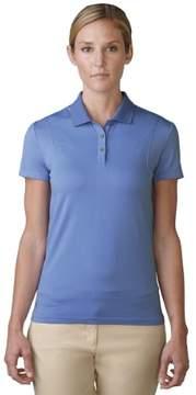 adidas 2016 Women's Seamless Short Sleeve Polo Shirt (Baja Blue/Wild Orchid - XS)
