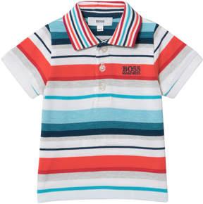 BOSS Multi Colour Stripe Pique Polo
