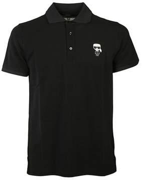 Karl Lagerfeld Men's 572204990 Black Cotton Polo Shirt.