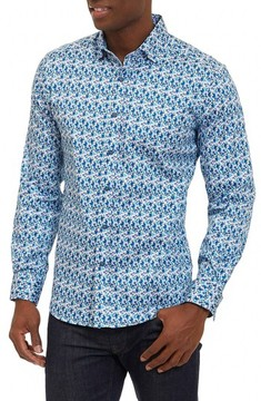 Robert Graham Men's Rylan Tailored Fit Print Sport Shirt