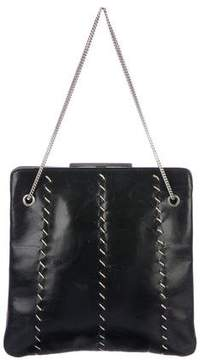 Emporio Armani Stitched Leather Handle Bag