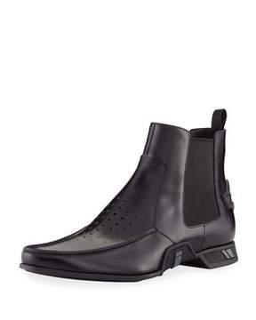 Prada Spazzolato Rois Chelsea Ankle Boot