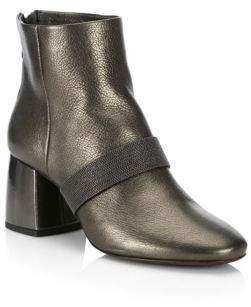 Brunello Cucinelli Metallic City Leather Boots