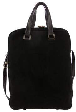 The Row Leather & Suede Satchel